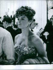 Tina Louise attending a party in Monaco.