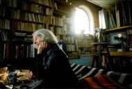 The author of Tove Jansson in his studio