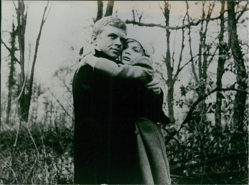 Patricia Gozzi hugging a man in the forest.