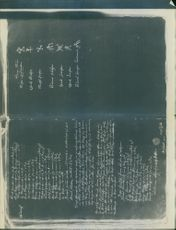 Text on the black background. 1944 ownership marks