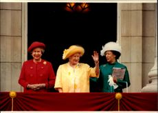 Queen Elizabeth II, Queen Elizabeth, Queen Mother, and Princess Anne.