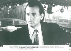 Bill Murray in the movie Scrooged Ghosts revenge