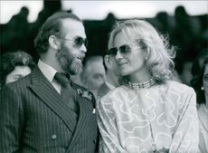 Prince and Princess Michael of Kent at the Wimbledon tennis championships. Princess Michael had just come out of hospital, where she was said to have been suffering from nervous exhaustion, 1985.