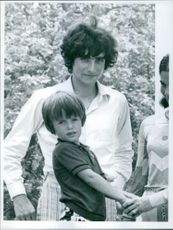 Phierry (Chaban - Delmas) with his wife and son.  1971