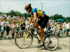 Roger Persson on Mountainbike during the Olympic Games in Atlanta