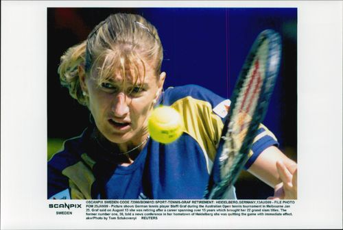 Steffi Graph in action at the Australian Open