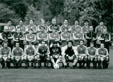 Group photograph of National Soccer Squard.