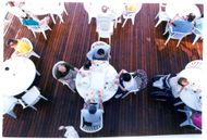 Crown Princess ship:breakfast on the deck.