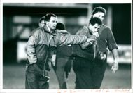 Alan Davies (rugby coach) with Gary Reese.