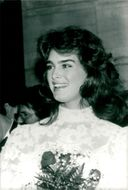 Actress Brooke Shields at Cristal Ball at the Philadelphia Museum of Art