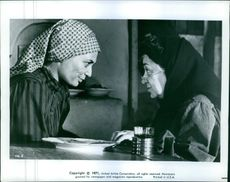 """Norma Crane and Molly Picon in the film """"Fiddler On The Roof"""", 1971."""