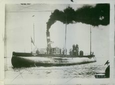 German submarine Deutschland left Baltimore's port, USA, 1916.