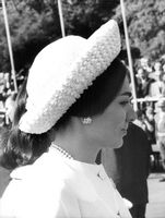Profile of Farah Pahlavi.  - 1965