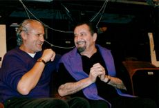 Maurice Béjart and Gianni Versace at the Theatre National de Chaillot