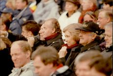 King Juan Carlos and Queen Sophia of Spain among the spectators during the opening of the Winter Olympics in 1998