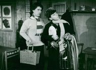 Birgitta Hålenius and Dennis ahlsten in Youth Youth Theater's performance of