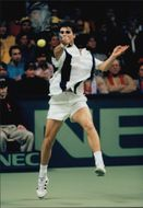 Arnaud Boetsch during the match against Nicklas Kulti in the Davis Cup 1996