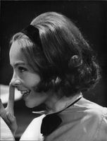 Close up of Leslie Caron.