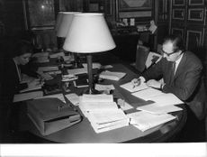 Georges Conchon in his office.