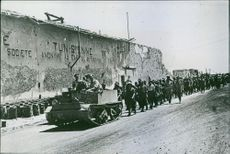 First Prisoners From Sicily Reach North Africa. 1941