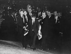 """Robert Francis """"Bobby"""" Kennedy with friends."""