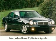 Motor car marcedes:Benz 320 avantgarde.