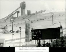 The towers to the jumps, 70 and 90 meters high, in the Canada Olympic Park.