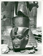 Nubian valley Egypt: head of remeses II.