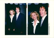 "Michelle Pfeiffer with her husband David E. Kelley at the premiere of the movie ""Time to Love"""