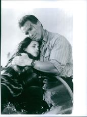"Arnold Schwarzenegger and Eliza Dushku in the movie ""True Lies"" 1994"