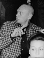 Close up of Yul Brynner.