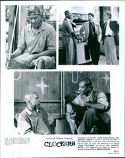 """Some scenes from the film """"Clockers""""."""