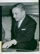 French Foreign Minister Georges Bidault
