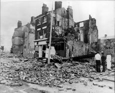 The material damage was extensive after the rise in Toxteth in Liverpool.