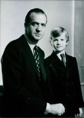 Spanish Royal Family: King Juan Carlos & Prince Felipe. 1976