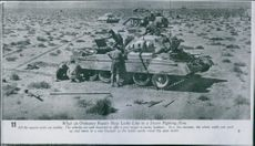 What an Ordnance Repair Shop Looks Like in a desert Fighting Zone, 1942.