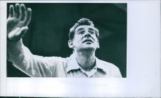 Leonard Bernstein conducting in 1960.