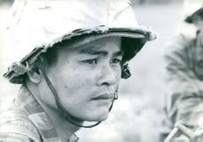 Close up of a vietnamese soilder.