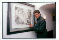 David Hasselhoff in Pablo Picasso's footsteps at Colombe d'Or