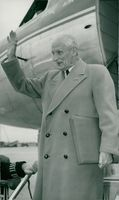 Field Marshal Viscount Montgomery arrives in Moscow