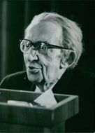 Close up of Hungarian Philosophers György Lukács, looking at something