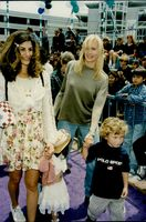 Daryl Hannah with a friend and child at the premiere of Casper