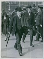 Mr. Stanley Baldwin arriving at the House of Commons.