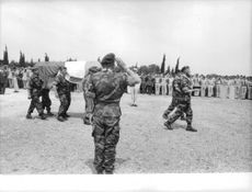 Military formation, honoring the death of a fellow military man. The Algerian War, also known as the Algerian War of Independence or the Algerian Revolution  was a war between France and the Algerian independence movements from 1954 to 1962, which led to