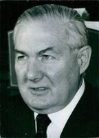 Close up of former British Prime Minister James Callaghan