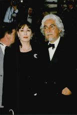 Angelica Huston and Robert Graham at the Cannes Film Festival