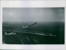 British pacific fleet carrier in strike against the Japanese
