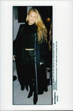 Anna Kournikova in civilian clothes after a tennis tournament in the United States.