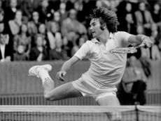 Jimmy Connors in action