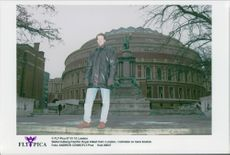 Tennis player Stefan Edberg in front of Royal Albert Hall in London, near his home